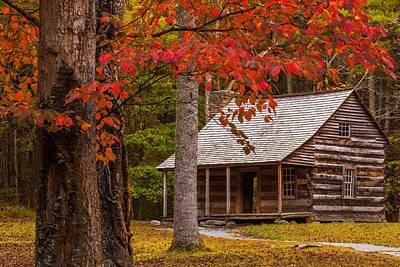 Fall Cabin Art Print by Jason Keefe