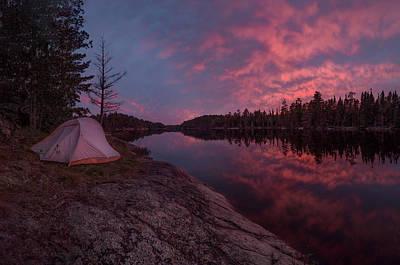 Photograph - Fall Camping // Bwca, Minnesota  by Nicholas Parker