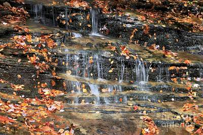 Photograph - Fall Cascades by Benanne Stiens