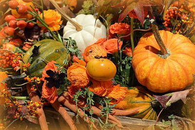 Bittersweet Photograph - Fall Centerpiece by Linda Covino