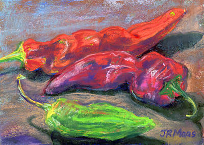 Painting - Fall Chiles by Julie Maas