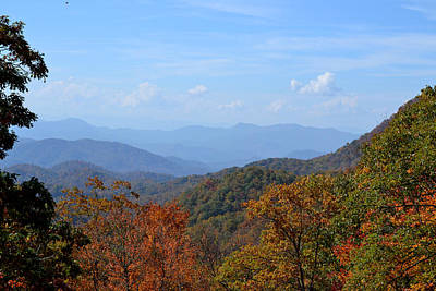 Photograph - Fall Color Along The Blue Ridge by rd Erickson
