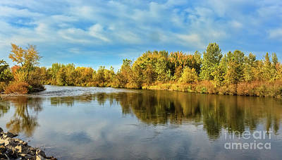 Photograph - Fall Color Along The Payette River by Robert Bales