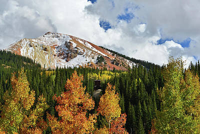 Photograph - Fall Color Aspens And Red Mountain by Ray Mathis