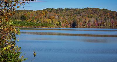 Fall Color At Lake Zwerner Art Print