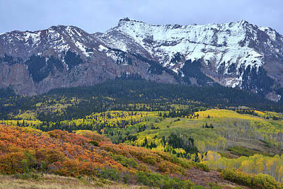 Photograph - Fall Color Comes To Hillsides Along Last Dollar Road by Ray Mathis