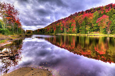 Photograph - Fall Color On Bald Mountain Pond by David Patterson