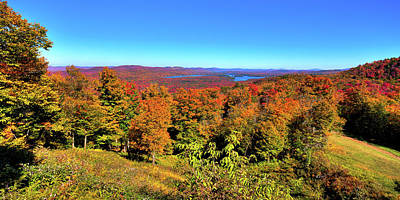 Photograph - Fall Color On The Fulton Chain Of Lakes by David Patterson