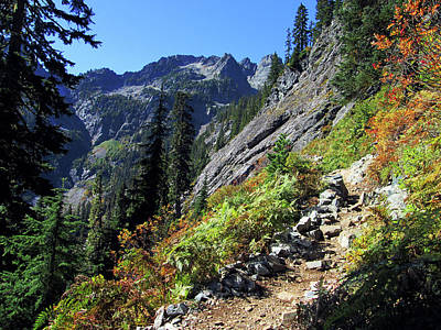 Superhero Ice Pop Rights Managed Images - Fall Color on the Snow Lake Trail Royalty-Free Image by Kathy Moll