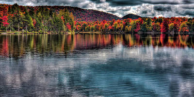 Photograph - Fall Color On West Lake by David Patterson