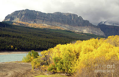Photograph - Fall Color Sherburne Lake Many Glacier National Park Montana by Christopher Boswell