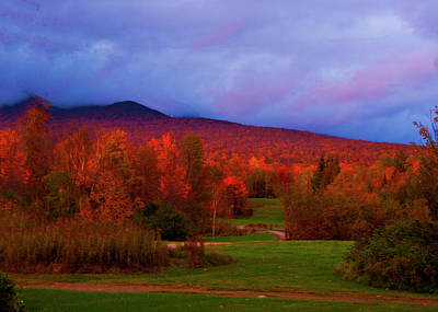 Photograph - Fall Color Under Stormy Sky by Bill Barber