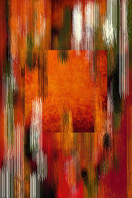 Template Digital Art - Fall Colors Abstract by Art Spectrum