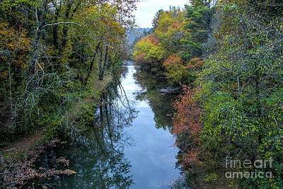 Photograph - Fall Colors Along The Tallulah River by Barbara Bowen