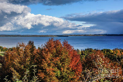 Photograph - Fall Colors And Grand Traverse Bay by Grace Grogan