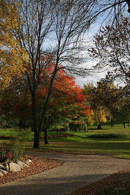 Fall Colors At Brooks Art Print