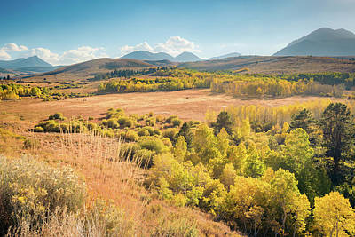 Photograph - Fall Colors At Dunderberg Meadows by Shuwen Wu
