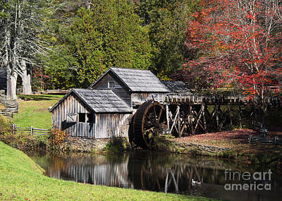 Photograph - Fall Colors At Mabry Mill Blue Ridge Parkway by Schwartz Nature Images