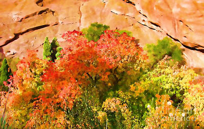 Photograph - Fall Colors At Red Rocks					 by Steven Parker