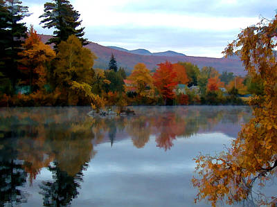 Androscoggin Photograph - Fall Colors by Dan McManus