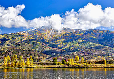 Pyrography - Fall Colors In Steamboat With A Lake. by James Steele