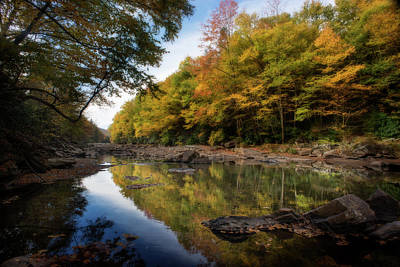 Photograph - Fall Colors In The Trees Along The River by Dan Friend