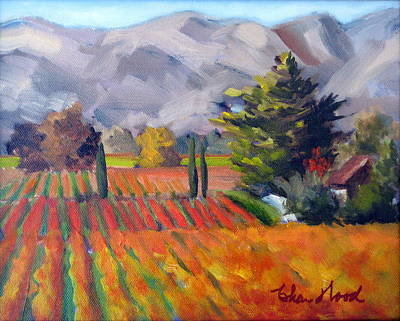 Fall Colors In The Vineyard Art Print by Char Wood