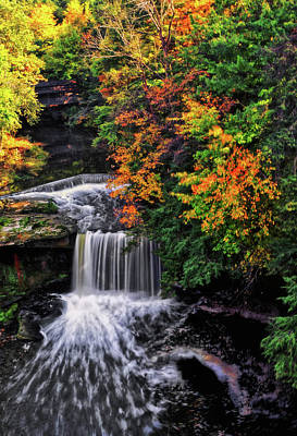 Photograph - Fall Colors - Lanterman's Mill 009 by George Bostian