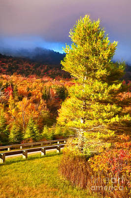 Painting - Fall Colors On Grandfather Mountain Ap by Dan Carmichael