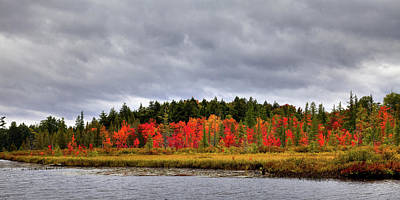 Photograph - Fall Colors On Raquette Lake by David Patterson