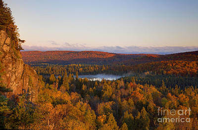 Fall Colors Orberg Mountain North Shore Minnesota Art Print
