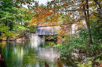 Photograph - Fall Colors Over The Babs Covered Bridge by Jeff Folger