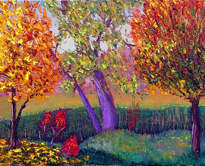 Fall Colors Art Print by Stan Hamilton