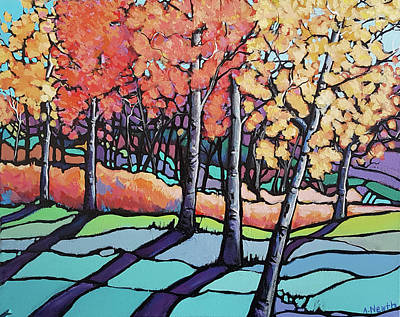 Wall Art - Painting - Fall Colours by Alison Newth