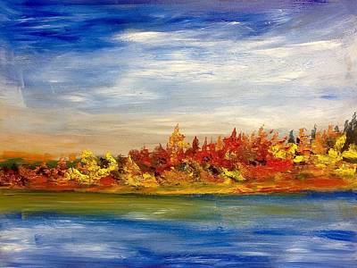 Painting - Fall Colours And Lake by Desmond Raymond