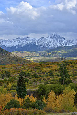 Photograph - Fall Comes To Dallas Divide And Mt. Sneffels by Ray Mathis