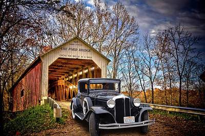 Fall Country Drive Art Print