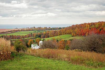 Photograph - Fall Country Landscape And Oneida Lake by Brooke T Ryan