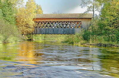 Photograph - Fall Covered Bridge by Thomas Pettengill