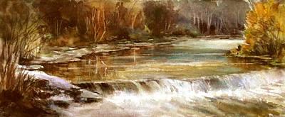Painting - Fall Creek - Camp El Tesoro by Tina Bohlman