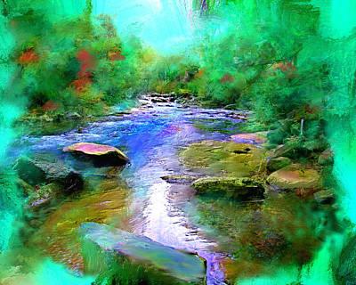 Fall Creek Art Print by Shirley Dawson