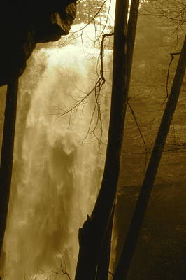 Fall Creel Falls In Sepia Art Print
