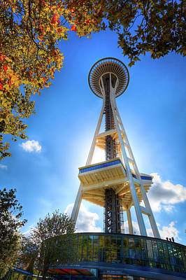 Space Needle Photograph - Fall Day At The Space Needle by David Patterson