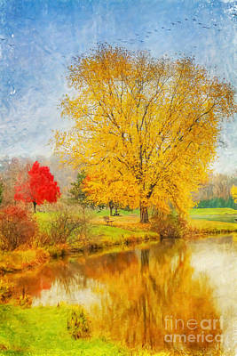 Fall Day On The Lake Art Print