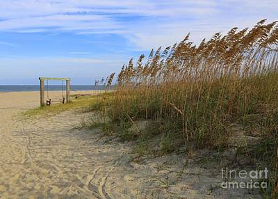 Fall Day On Tybee Island Art Print by Carol Groenen