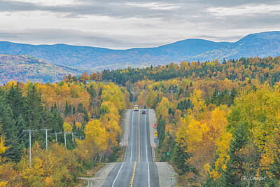 Photograph - Fall Drive by CR  Courson