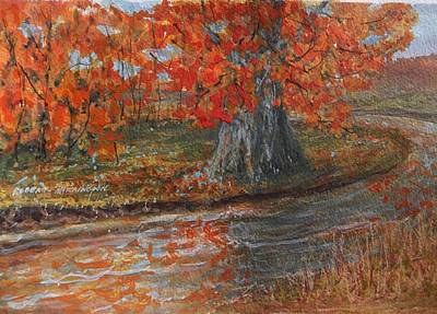 Painting - Fall Exit by Robert Harrington