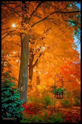 Gold Photograph - Fall Explosion by LeeAnn McLaneGoetz McLaneGoetzStudioLLCcom