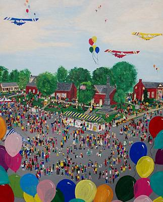 Painting - Fall Fair by Virginia Coyle