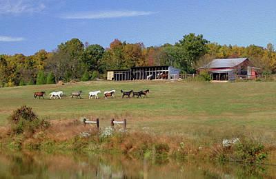 Photograph - Fall Farm Line by Art Cole